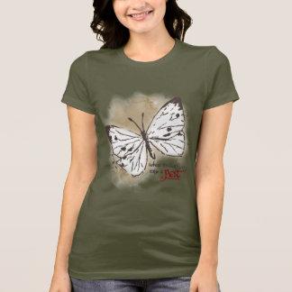 T-shirt Les papillons blancs sont un parasite