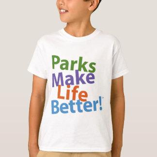 T-shirt Les parcs rendent la vie meilleure ! Logo officiel