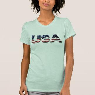 T-shirt Les parties scintillantes bleues et rouges de