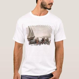 T-shirt Les patineurs et un golf party sur la glace