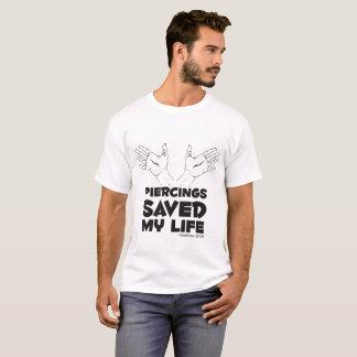 T-shirt Les perforations ont sauvé ma vie