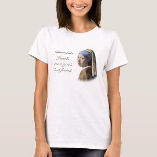 T-shirt Les perles sont le meilleur ami d'une fille