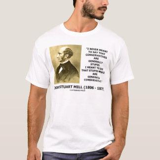 T-shirt Les personnes stupides sont généralement citation