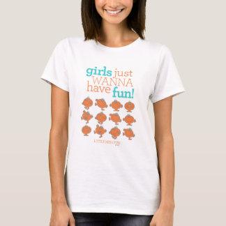 T-shirt Les petites filles de Mlle Fun | veulent juste