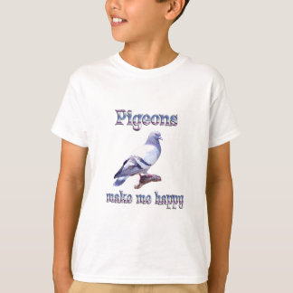 T-shirt Les pigeons me rendent heureux