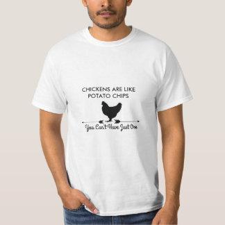 T-shirt Les poulets sont comme des pommes chips