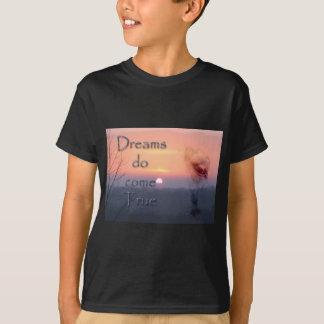 T-shirt Les rêves viennent véritable cheval et lever de