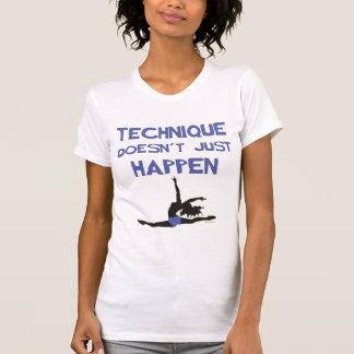 T-shirt Les sauts de pointe de ballet de technique de