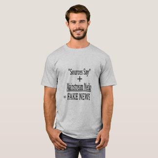 """T-shirt Les """"sources indiquent"""" + Médias de courant"""