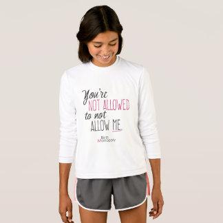 """T-shirt Les sports non permis des filles """""""" longue douille"""