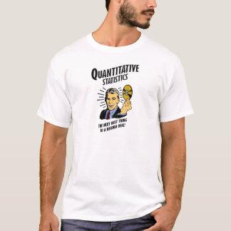 T-shirt Les statistiques quantitatives est la prochaine