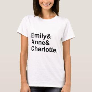 T-shirt Les trois soeurs de Bronte   Emily Charlotte Anne