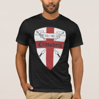 T-shirt Les US 187th Assault Helicopter le Co Crusaders