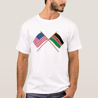 T-shirt Les USA et drapeaux croisés par Kenya