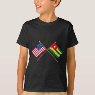 T-shirt Les USA et drapeaux croisés par Togo