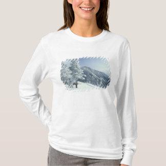 T-shirt Les USA, NH, neige ont couvert des traînées