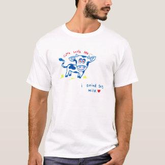 T-shirt Les vaches m'aiment… Je bois du lait de soja