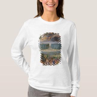 T-shirt Les vergers de Versailles. Vue de piscine de
