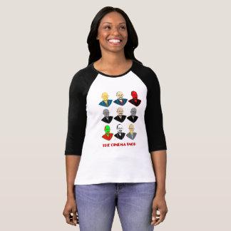 T-shirt Les visages snobs de cinéma - 3/4 douille des