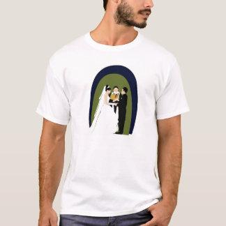 T-shirt Les voeux, la jeune mariée, le marié et