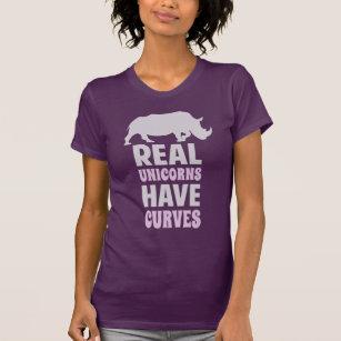 T-shirt Les vraies licornes ont des courbes
