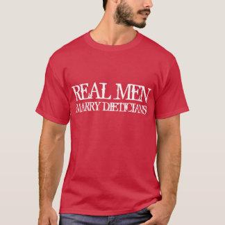 T-shirt Les vrais hommes épousent des diététiciens