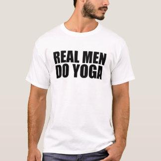 T-shirt Les vrais hommes font le yoga