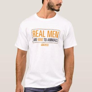 T-shirt Les vrais hommes sont aimables avec la chemise