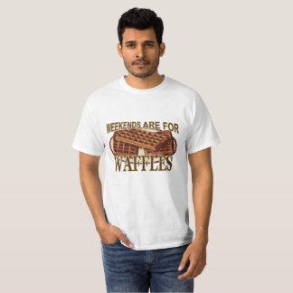 T-shirt Les week-ends sont pour des gaufres.