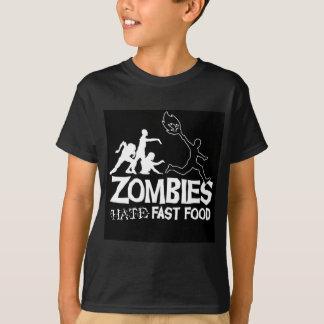 T-shirt Les zombis détestent les aliments de préparation