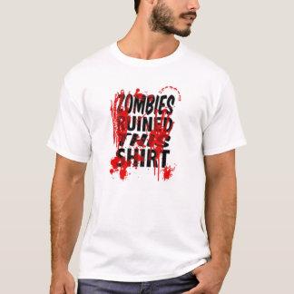"""T-shirt Les """"zombis la pièce en t des hommes ont ruiné"""