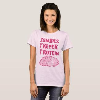 T-shirt Les zombis vintages préfèrent la protéine