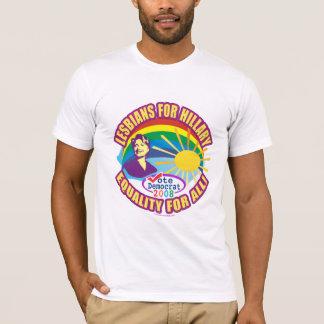 T-shirt Lesbiennes pour Hillary ! Hillary pour le