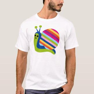 T-shirt L'escargot Slugs l'animal mignon de bande dessinée