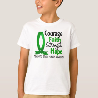 T-shirt Lésion cérébrale traumatique d'espoir de force de