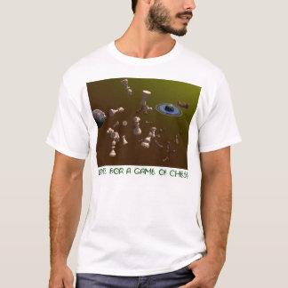 T-shirt L'espace pour une partie d'échecs