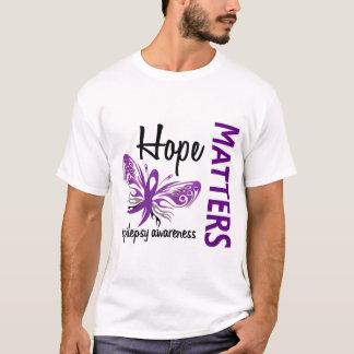 T-shirt L'espoir importe épilepsie de papillon