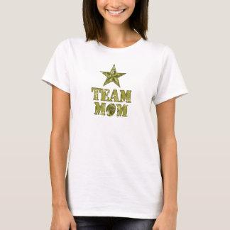 T-shirt L'étoile du général du football de maman d'équipe