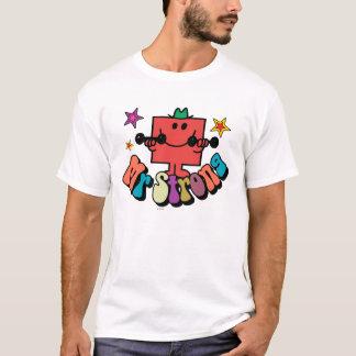T-shirt Lettrage et étoiles colorés de M. Strong |