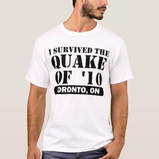 T-shirt Lettrage noir de TORONTO 2010 de TREMBLEMENT DE