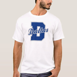 T-shirt Lettre de Dallas