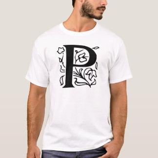 T-shirt Lettre de fantaisie P
