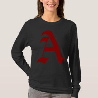 T-shirt Lettre d'écarlate moderne de jour - A pour l'athée