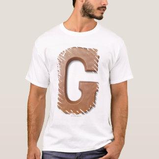 T-shirt Lettre g de chocolat