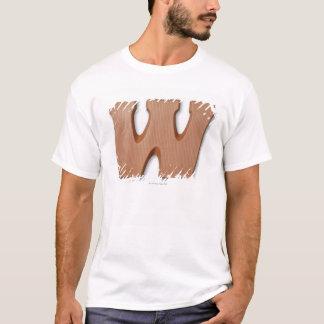 T-shirt Lettre W de chocolat
