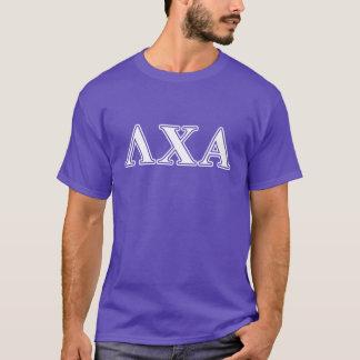 T-shirt Lettres blanches de Chi de lambda alpha et