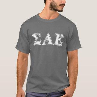 T-shirt Lettres blanches de sigma alpha et pourpres