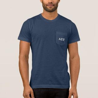 T-shirt Lettres blanches et jaunes d'alpha Tau de sigma