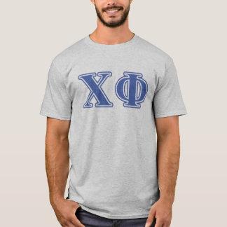 T-shirt Lettres de bleu de phi de Chi