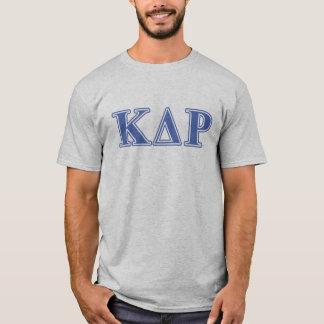 T-shirt Lettres de bleu de thêta de Kappa de phi